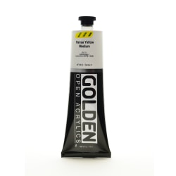 Golden OPEN Acrylic Paint, 5 Oz Tube, Hansa Yellow Medium