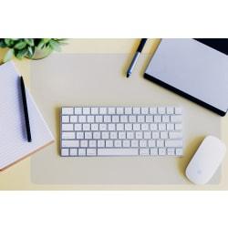 "Floortex Desktex Polycarbonate Anti-Slip Desk Mat, 20"" x 36"", Clear"