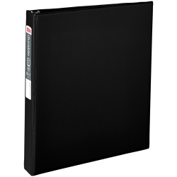 "Office Depot® Brand Nonstick Round-Ring Binder, 1"" Rings, 64% Recycled, Black"
