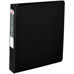 """Office Depot® Brand Nonstick Round-Ring Binder, 1 1/2"""" Rings, 64% Recycled, Black"""