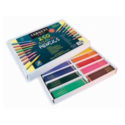Sargent Art Pre-Sharpened Color Art Pencils, Assorted Colors, Box Of 250
