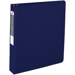 "Office Depot® Brand Nonstick Round-Ring Binder, 1 1/2"" Rings, 64% Recycled, Blue"