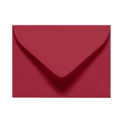 "LUX Mini Envelopes With Moisture Closure, #17, 2 11/16"" x 3 11/16"", Garnet Red, Pack Of 50"