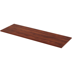 """Lorell® Quadro Sit-To-Stand Laminate Table Top, 72""""W x 24""""D, Cherry"""
