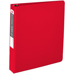 """Office Depot® Brand Nonstick Round-Ring Binder, 1 1/2"""" Rings, 64% Recycled, Red"""