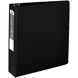 "Office Depot® Brand Nonstick Round-Ring Binder, 2"" Rings, 64% Recycled, Black"