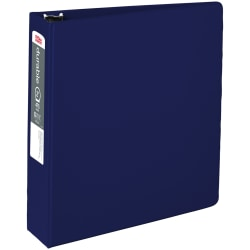 "Office Depot® Brand Nonstick Round-Ring Binder, 2"" Rings, 64% Recycled, Blue"