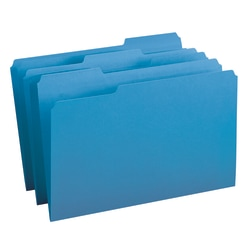 Smead® Color File Folders, Legal Size, 1/3 Cut, Blue, Box Of 100