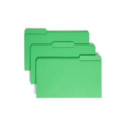 Smead® Color File Folders, Legal Size, 1/3 Cut, Green, Box Of 100