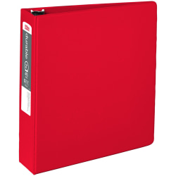 """Office Depot® Brand Nonstick 3-Ring Binder, 2"""" Round Rings, 49% Recycled, Red"""