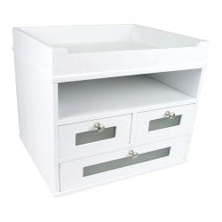 "Victor® Tidy Tower Desk Organizer, 10 3/4""H x 12 3/10""W x 10 3/4""D, Pure White"