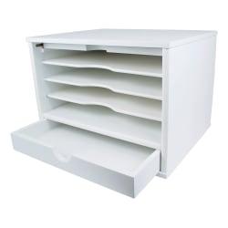 "Victor® Desktop Organizer, 9 3/4""H x 14""W x 10 3/4""D, Pure White"