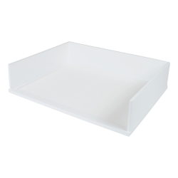 """Victor® Stacking Letter Tray, 3 1/5""""H x 10 11/16""""W x 13 1/4""""D, Pure White"""