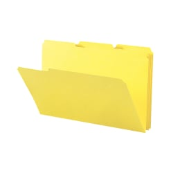 Smead® Color File Folders, Legal Size, 1/3 Cut, Yellow, Box Of 100