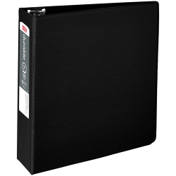 "Office Depot® Brand Nonstick Round-Ring Binder, 3"" Rings, 64% Recycled, Black"