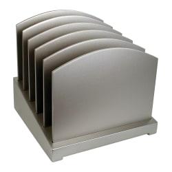 "Victor® Incline File Sorter, 9 3/4""H x 9 3/4""W x 9 3/4""D, Classic Silver"