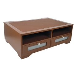 "Victor® Printer Stand, 8""H x 21 7/8""W x 15 5/16""D, Mocha Brown"