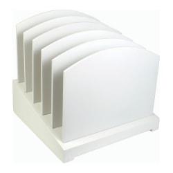 """Victor® Incline File Sorter, 9 3/4""""H x 9 3/4""""W x 9 3/4""""D, Pure White"""