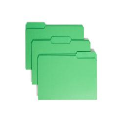 Smead® Color File Folders, Letter Size, 1/3 Cut, Green, Box Of 100