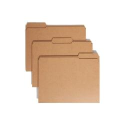 Smead® Reinforced Tab Kraft File Folders, Letter Size, 1/3 Cut, Pack Of 100