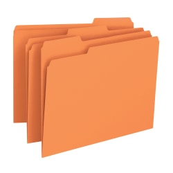 Smead® Color File Folders, Letter Size, 1/3 Cut, Orange, Box Of 100