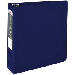 """Office Depot® Brand Nonstick 3-Ring Binder, 3"""" Round Rings, 49% Recycled, Blue"""