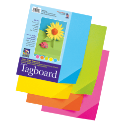 "Pacon® Colorwave Super Bright Tag Board, 9"" x 12"", Assorted Colors, Pack Of 100"