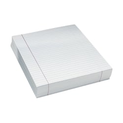"""Pacon® Composition Paper, Unpunched, 3/8"""" Rule, 8 1/2"""" x 11"""", White, Pack Of 500 Sheets"""