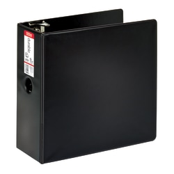 """Office Depot® Brand Durable 3-Ring Binder, 5"""" D-Rings, 65% Recycled, Black"""