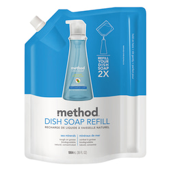 Method® Dish Soap Pump Refill Pouch, Sea Minerals, 36 Oz