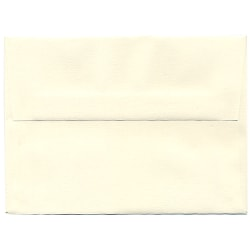 "JAM Paper® Booklet Invitation Envelopes (Recycled), A6, 4 3/4"" x 6 1/2"", Via Linen, 30% Recycled, Natural White, Pack Of 25"