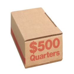 PM™ Company Coin Boxes, Quarters, $500.00, Bundle Of 50