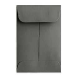 "LUX Coin Envelopes, #1, 2 1/4"" x 3 1/2"", Smoke, Pack Of 500"