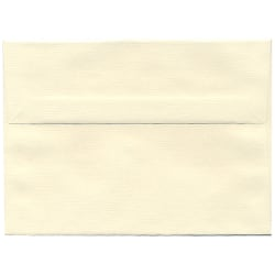 """JAM Paper® Booklet Invitation Envelopes (Recycled), A7, 5 1/4"""" x 7 1/4"""", 30% Recycled, Strathmore Natural White, Pack Of 25"""