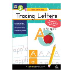 Carson-Dellosa Trace With Me Activity Book, Tracing Letters, Preschool - Kindergarten
