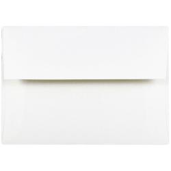 "JAM Paper® Booklet Invitation Envelopes, A6, 4 3/4"" x 6 1/2"", Strathmore, Bright White Wove, Pack Of 25"
