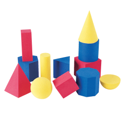 Learning Resources® Hands-On Soft® Geometric Shape Set, Assorted Colors, Grades Pre-K - 8