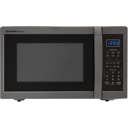 Sharp® Carousel 1.4 Cu Ft Countertop Microwave Oven, Black Stainless Steel
