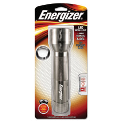 "Energizer® LED Flashlight, 8 1/3"" x 2 1/5"", Silver"