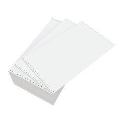 """Domtar Continuous Form Paper, Unperforated, 14 7/8"""" x 8 1/2"""", 18 Lb, Blank White, Carton Of 3,000 Forms"""