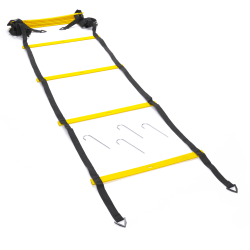Black Mountain Products Foldable Agility Ladder With Carry Bag, 20', Black/Yellow