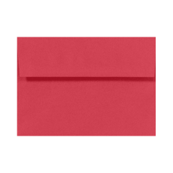"LUX Invitation Envelopes With Moisture Closure, A7, 5 1/4"" x 7 1/4"", Holiday Red, Pack Of 50"