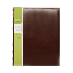 """Eccolo Executive Journal, 8"""" x 10"""", 256 Pages, Brown"""