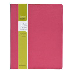 """Eccolo Flexi Journal, 8"""" x 10"""", 256 Pages, Pink/Turquoise"""