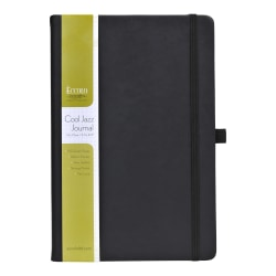 "Eccolo™ Cool Jazz Journal, 5 1/2"" x 8"", Graph, 192 Pages, Black"