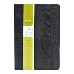 """Eccolo™ Cool Jazz Journal, 5 1/2"""" x 8"""", Lined, 192 Pages, Black Snake"""
