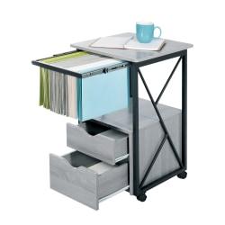 """Safco® Mood 17-3/4""""D Vertical 2-Drawer Storage Pedestal Cabinet, Gray"""