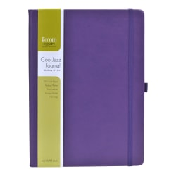 "Eccolo™ Cool Jazz Journal, 8"" x 10"", Lined, 192 Pages, Assorted Colors"
