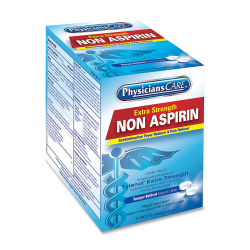 PhysiciansCare Non Aspirin Pain Reliever Medication, 2 Tablets Per Packet, Box Of 125 Packets