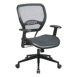 Office Star™ Air Grid™ Deluxe Task Chair, Black